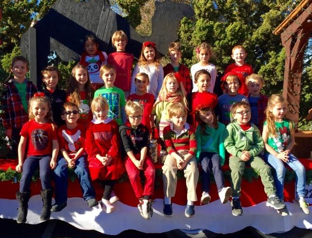 Salem Lutheran School's first-grade class