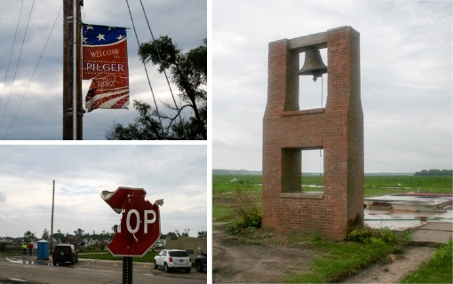 Tornado damage in Pilger, Nebraska